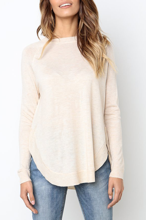 Lovely Casual Asymmetrical Apricot Knitting Sweaters