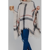 Lovely Fashion Tassel Loose Beige Sweaters