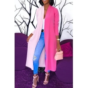 Lovely Euramerican Patchwork X-Long Pink Trench Co