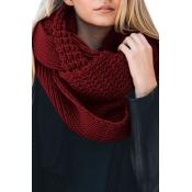 Lovely  Euramerican Chunky Wine Red Knitting Scarv
