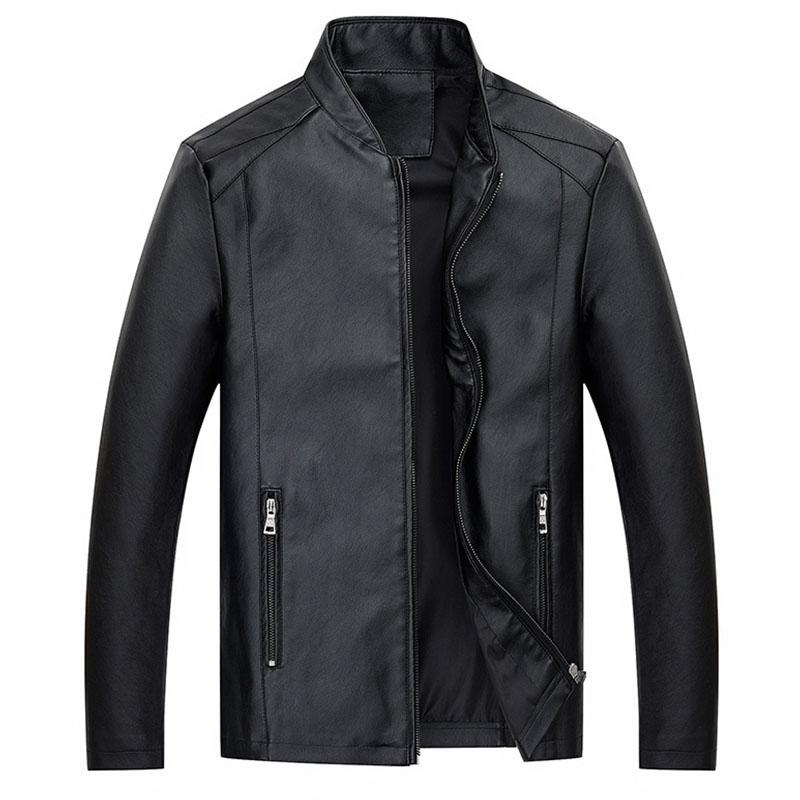 Lovely Casual Zipper Design Black Leather Coat