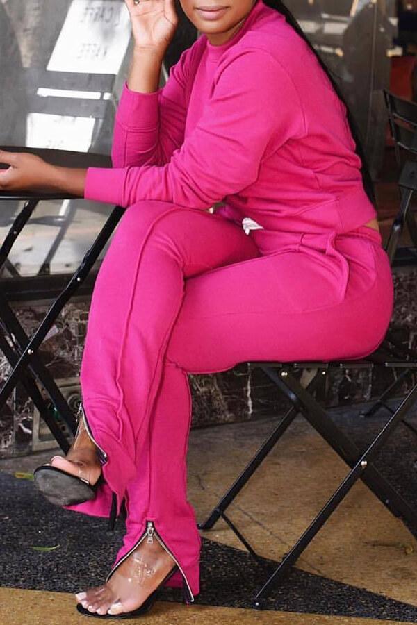 Lovely Euramerican Zipper Design Pink Blending Two