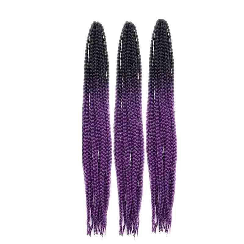 Hermosas Pelucas Púrpuras Cambio Gradual Africano