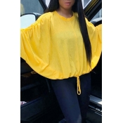 Lovely Fashion Batwing Sleeves Yellow Blouses