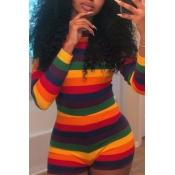 Lovely Euramerican Striped Multicolor Blending One
