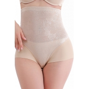 Lovely Casual High-waist Skin Color Panties