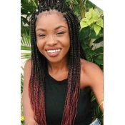Lovely African Gradual Change Wine Red Wigs