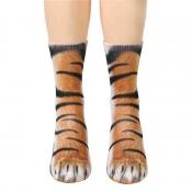 Lovely Chic Animal Brown Socks