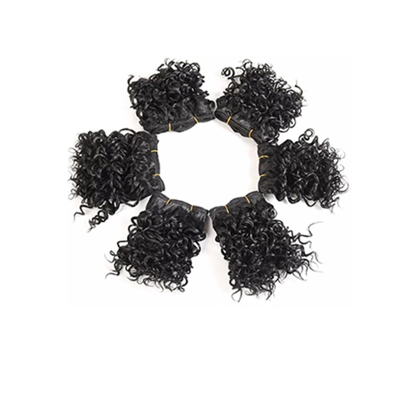 Lovely Fashion Small Roll Black Wigs