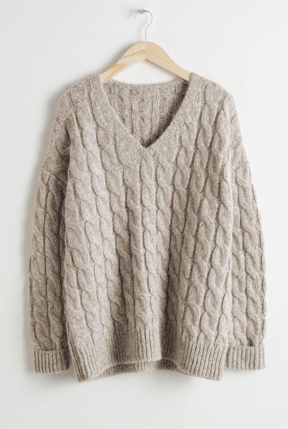 Lovely  Loose Light Tan Sweater