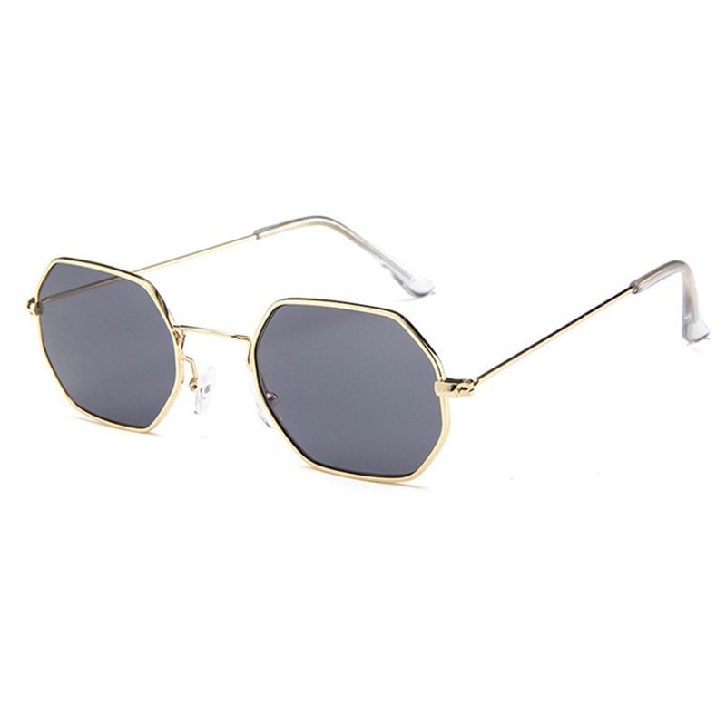 Lovely Retro  Frame Design Grey  Metal Sunglasses