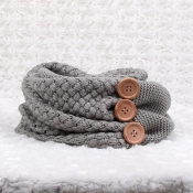 Lovely Euramerican Button Decorative Light Grey Co