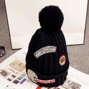 Lovely Fashion Maomao Ball Decorative Black Hats