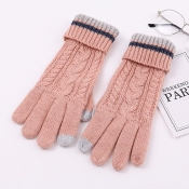 Lovely Fashionable Pink Sheep Plush Knitted Gloves