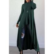 Lovely Casual Long Sleeves Irregular Green Blendin
