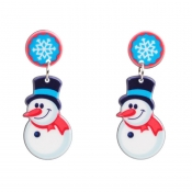Lovely Fashion Christmas Snowman White Earring