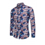 Lovely Vintage Long Sleeves Printed Cotton Shirt