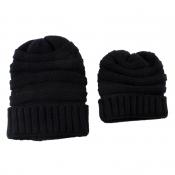 Lovely Fashionable Winter Black Hats(Parent-child
