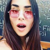 Lovely Retro  Frame Design Light Pink  Metal Sunglasses