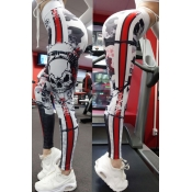 Lovely Sportswear Skull Printed White Leggings
