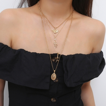 Lovely Fashionable Layered Gold Metal Necklace