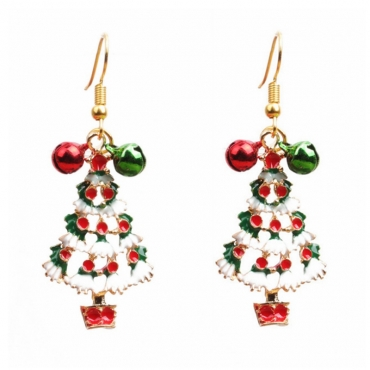 Lovely Fashion Christmas Tree Earring