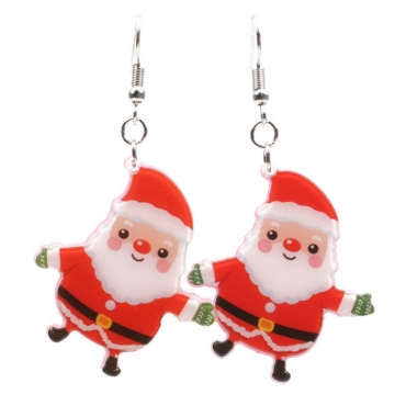Lovely Likable Santa Claus Red Earring