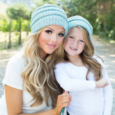 Lovely Fashionable Winter Baby Blue Hats(Parent-child Cap)