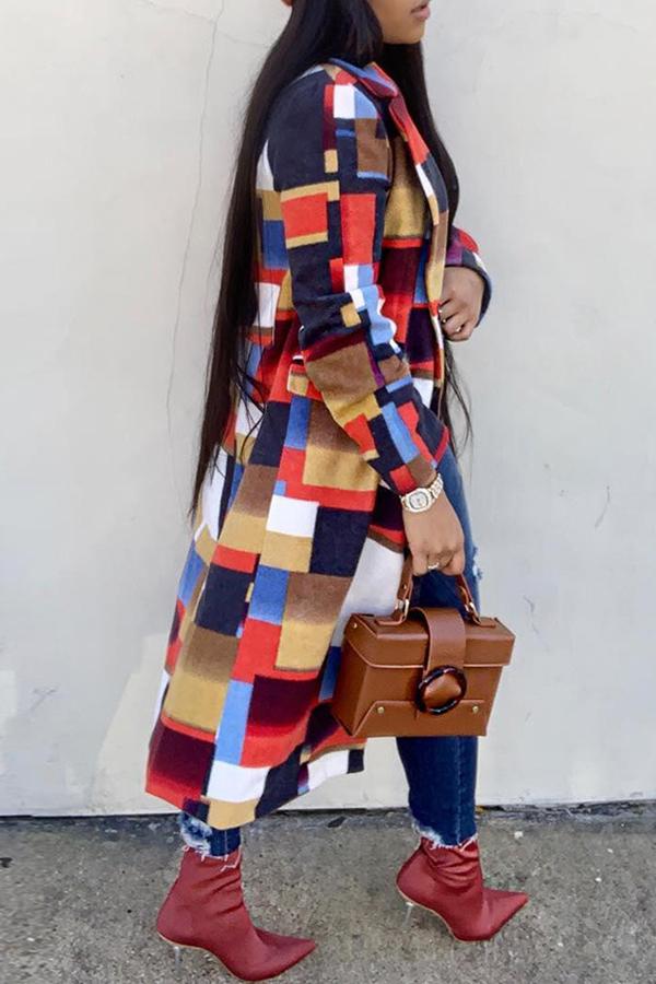 Precioso Patchwork De Moda Gabardinas Rojas