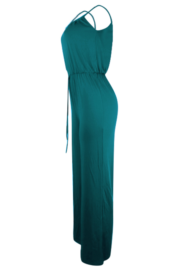 Lovely Euramerican Loose Green One-piece Jumpsuit
