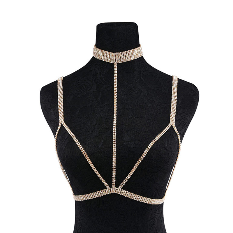 Lovely Vintage Gold Metal Body Chain