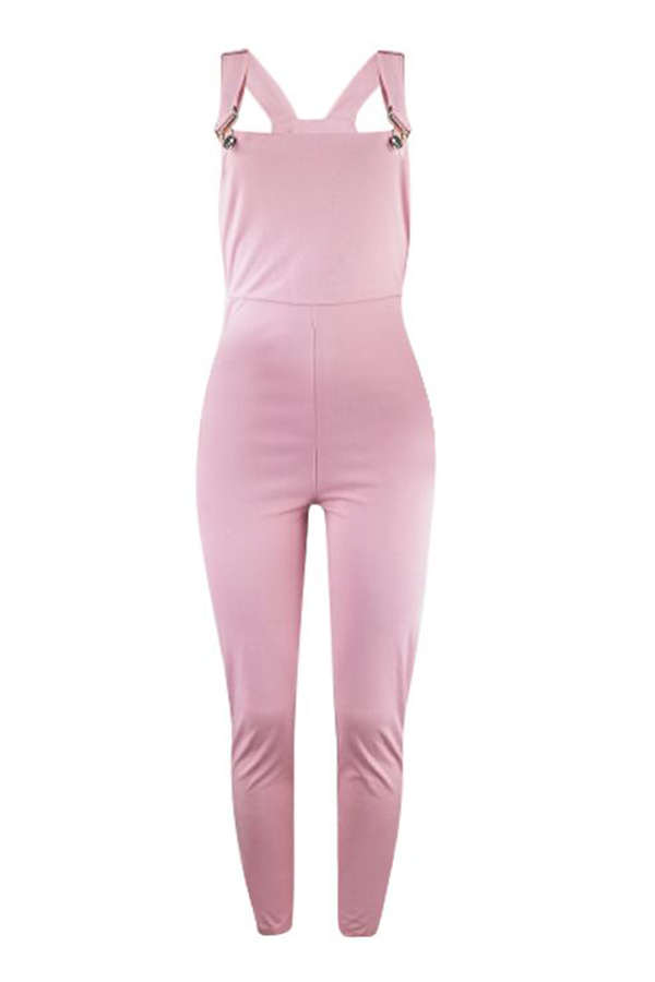 Lovely Casual Skinny Pink Blending One-piece Jumpsuit