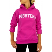 Lovely Casual Hooded Collar Rose Red Hoodies