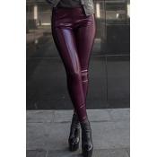 Lovely Trendy Skinny Purple Pants
