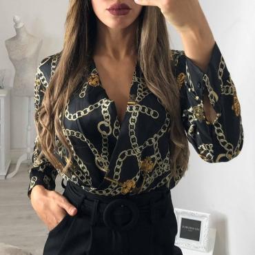Lovely Trendy Printed  Black Cotton Blends  Bodysuit