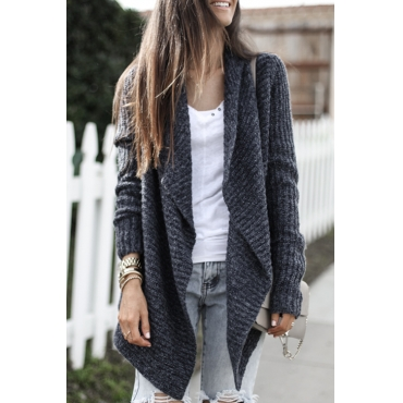 Lovely Chic Long Sleeves Black Cardigan Sweaters