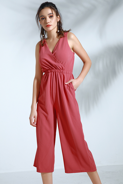 Lovely Trendy Loose Watermelon Red One-piece Jumpsuit