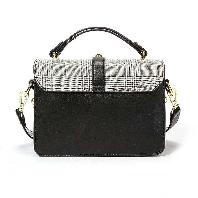 Lovely Elegant Rivet Decorative Black Crossbody Bag
