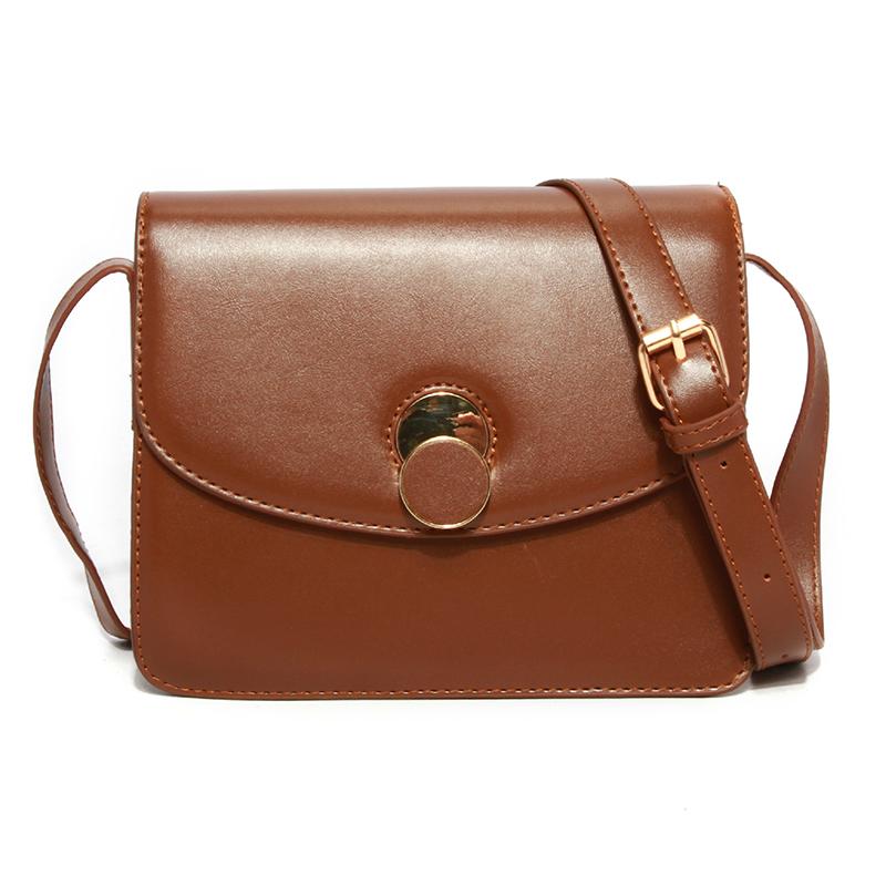 Lovely Chic Brown PU Crossbody Bag