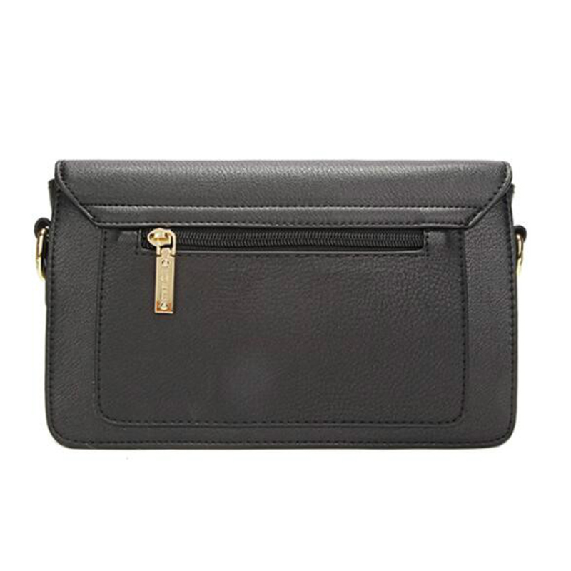 Lovely Elegant Embroidered Design Black Crossbody Bag