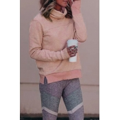 Lovely Casual Long Sleeves Gray Powder Hoodies