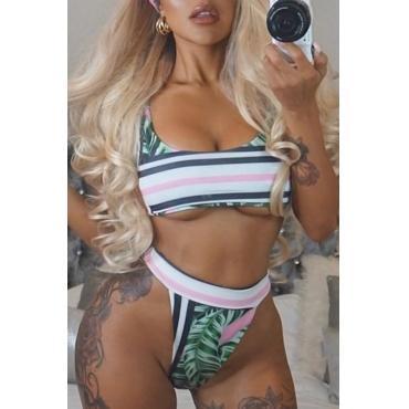 Hermosa Sexy Patchwork Bikinis Blancos