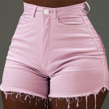 Pantalones Cortos De Mezclilla Rosa De Moda Encantadora Encantadora