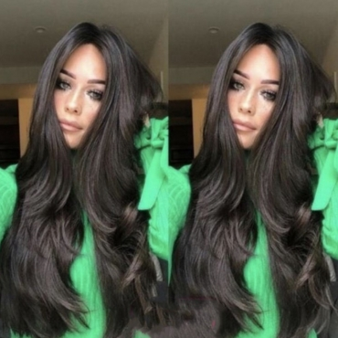 Lovely Casual Natural Looking Long Wavy Black Wigs