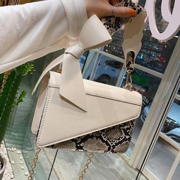 Lovely Fashion Animal Printed White PU Messenger Bag