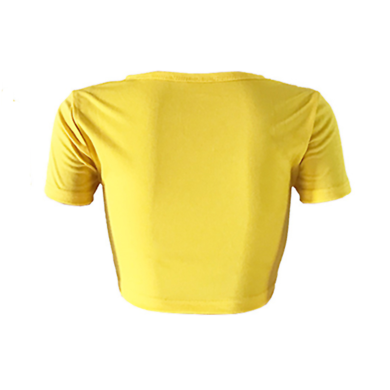 Lovely Casual Patchwork Yellow T-shirt