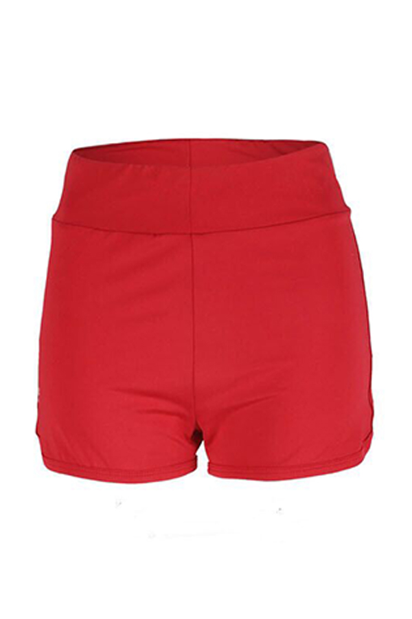 Lovely Casual Drape Design Red Shorts