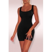 588f7a32d9f3 Lovely Casual Sleeveless Skinny Black One-piece Rompers
