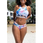 Lovely Casual Hollowed-out Multicolor Two-piece Sw