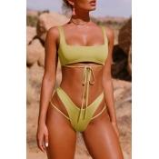 Bikinis Verdes Ahuecados De Moda Encantadores